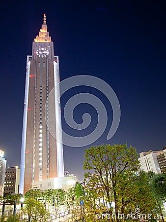Tokyo City tower at night