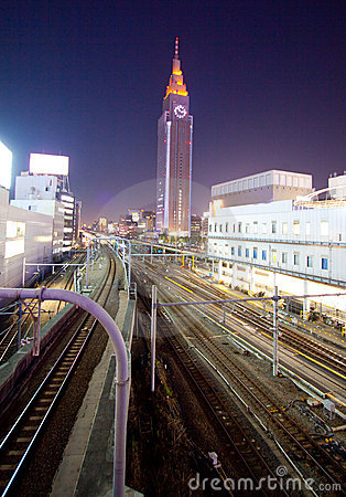 Tokyo City train station rails