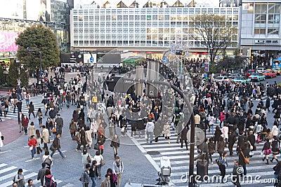 Tokyo crossing Editorial Stock Image