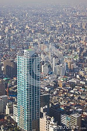 Tokyo dense city landscape