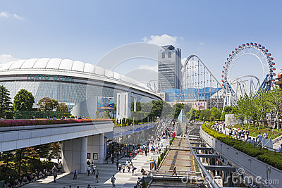 Tokyo Dome City Editorial Stock Photo