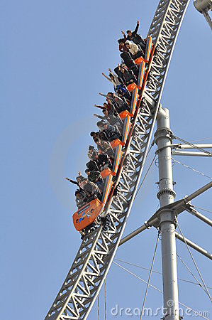 Tokyo Dome roller coaster Editorial Photography