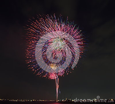 Free Tokyo Firework Stock Image - 34139651