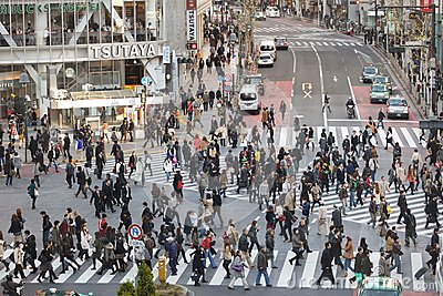 Tokyo hachiko crossroad Editorial Stock Image