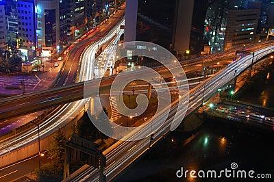Tokyo Highways by Night
