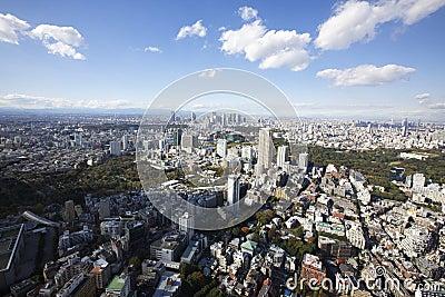Tokyo Japan Aerial View