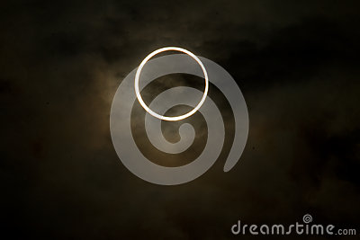 Tokyo, Japan - May 21: Annular eclipse Editorial Stock Image