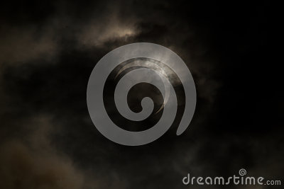 Tokyo, Japan - May 21: Annular eclipse Editorial Image