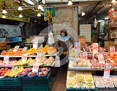 TOKYO, JAPAN- NOVEMBER 22, 2013: Ameyoko is market street,which Editorial Stock Image