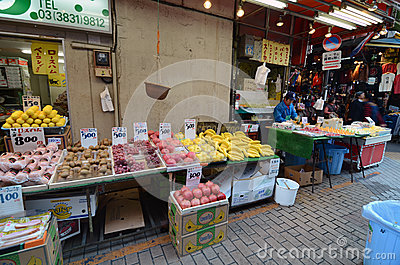 TOKYO, JAPAN- NOVEMBER 22, 2013: Ameyoko is market street,which Editorial Photo
