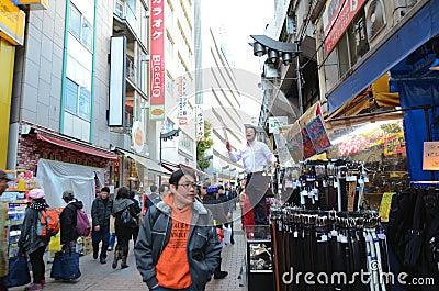 TOKYO, JAPAN- NOVEMBER 22, 2013: Ameyoko is market street,which Editorial Image