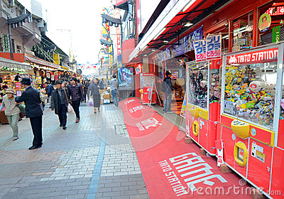 TOKYO, JAPAN - NOVEMBER 22 : Ameyoko market in Ueno District at Editorial Stock Image