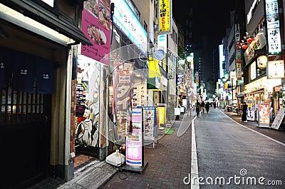 TOKYO, JAPAN - NOVEMBER 25, 2013: commercial street in the Kichi