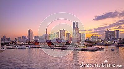 Tokyo Japan Yokohama harbor skyline