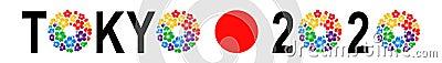 Tokyo Olympics 2020 logo Editorial Photography