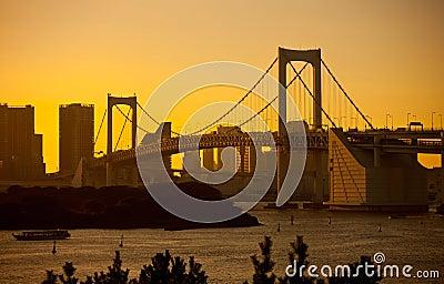 Tokyo Rainbow Bridge Editorial Photo