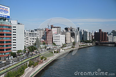 Tokyo residential building Editorial Stock Photo