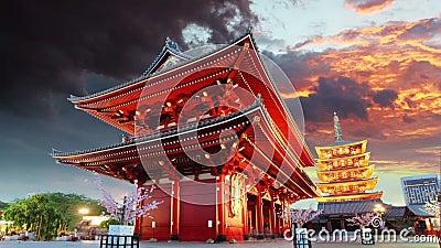 Tokyo - Sensoji-ji, Temple in Asakusa, Japan.