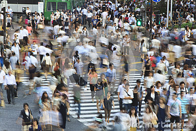 Tokyo Shibuya Crossing - long exposure Editorial Photography