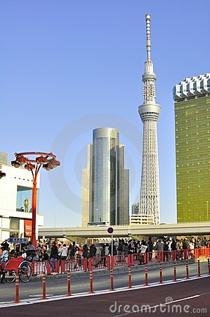 Tokyo sky tree tower in sumida ward, tokyo, japan Editorial Photo