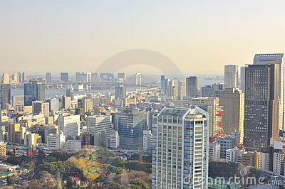 Tokyo Skyline Editorial Stock Photo