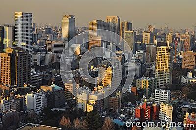 Tokyo Skyline Editorial Photo