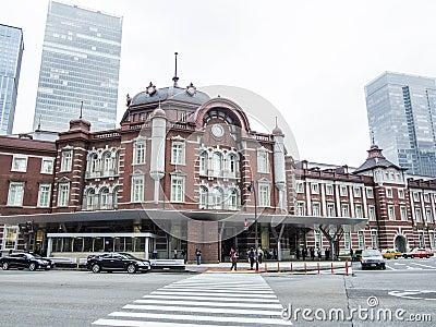 Tokyo station, Japan Redaktionell Fotografering för Bildbyråer
