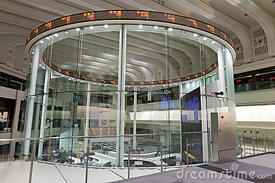 Tokyo Stock Exchange in Japan Editorial Stock Photo