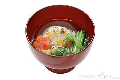Tokyo style zoni , japanese rice cake soup
