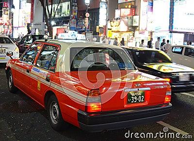 Tokyo Taxi Editorial Photography