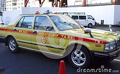 Tokyo taxi Japan Editorial Photography