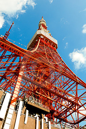 Free Tokyo Tower Face Cloudy Sky Royalty Free Stock Photography - 17793847