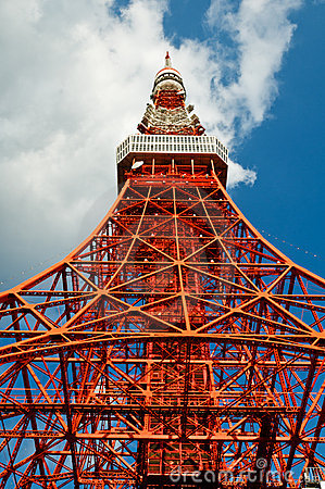 Free Tokyo Tower Face Cloudy Sky Royalty Free Stock Photography - 17794017