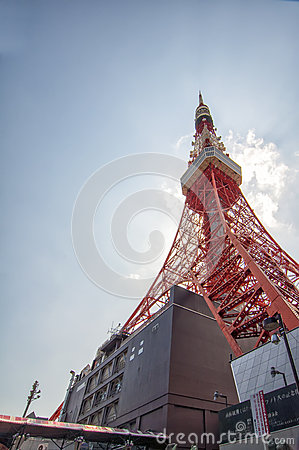 Tokyo Tower in Japan Editorial Photo