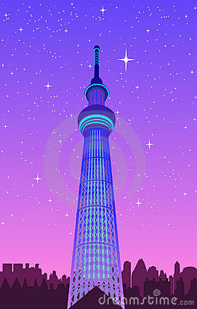 Tokyo View ,vector file