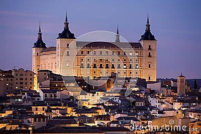 Toledo Alcazar at Dusk