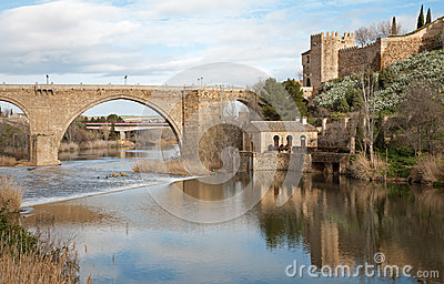 Toledo - San Martin s bride or Puente de san Maritn in morning