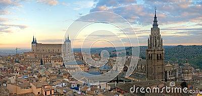 Toledo Skyline aerial photography