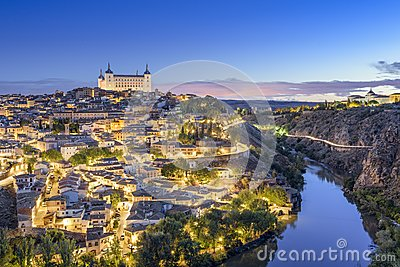 Toledo, Spain Town Skyline Stock Photo