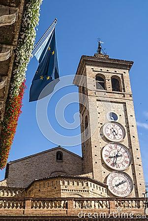 Tolentino, clock tower