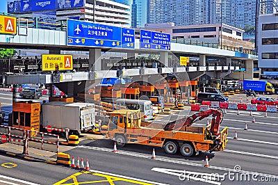 Toll gates at hung hom, hong kong Editorial Image