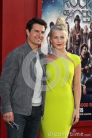 Tom Cruise, ταρσός της Julianne Εκδοτική Στοκ Εικόνες