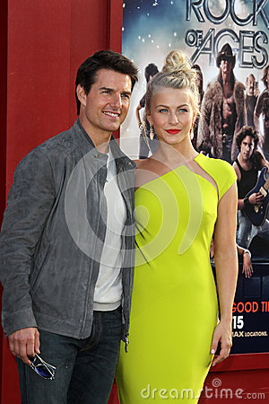 Tom Cruise, Hough de Julianne Foto de Stock Editorial