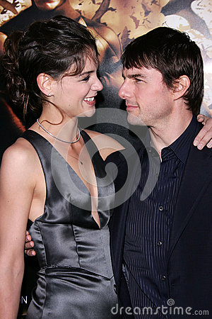 Tom Cruise,Katie Holmes Editorial Image