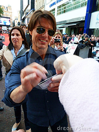 Tom Cruise At Knight And Day Premiere Editorial Stock Photo