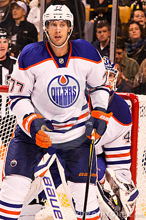 Tom Gilbert Edmonton Oilers Editorial Stock Image
