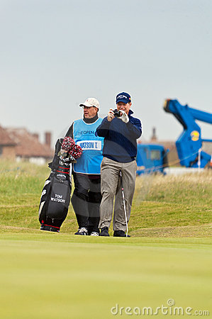 Tom Watson  at the 2011 open Editorial Stock Image