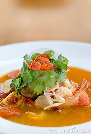 Free Tom Yum Soup Royalty Free Stock Photography - 4927427