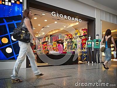 Tomada de varejo de Giordano Foto Editorial