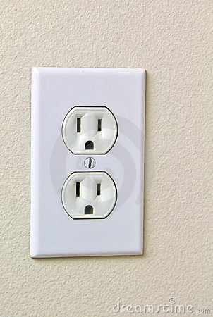 Tomada elétrica 110 da casa